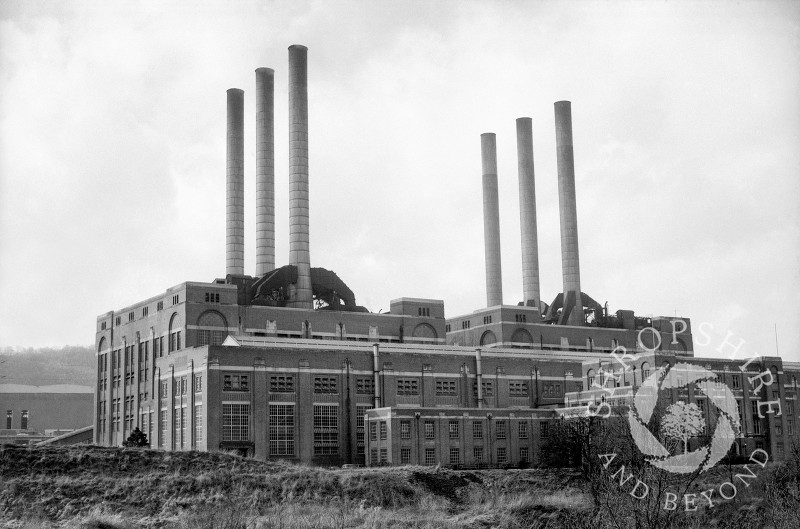 The original Ironbridge Power Station seen in 1968, Shropshire, England.