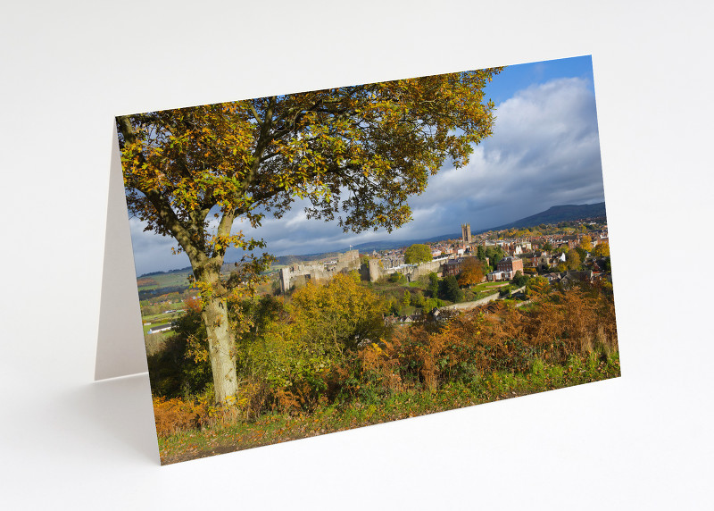 Ludlow in autumn, seen from Whitcliffe Common, Shropshire.