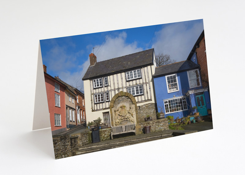 The Old Market Place in Bishop's Castle, Shropshire.
