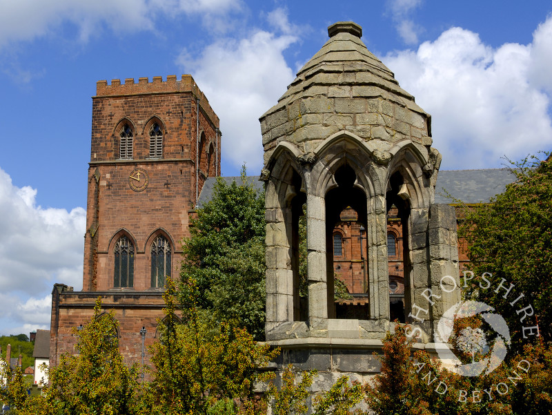 Shrewsbury Abbey and the old refectory pulpit, Shropshire, England.