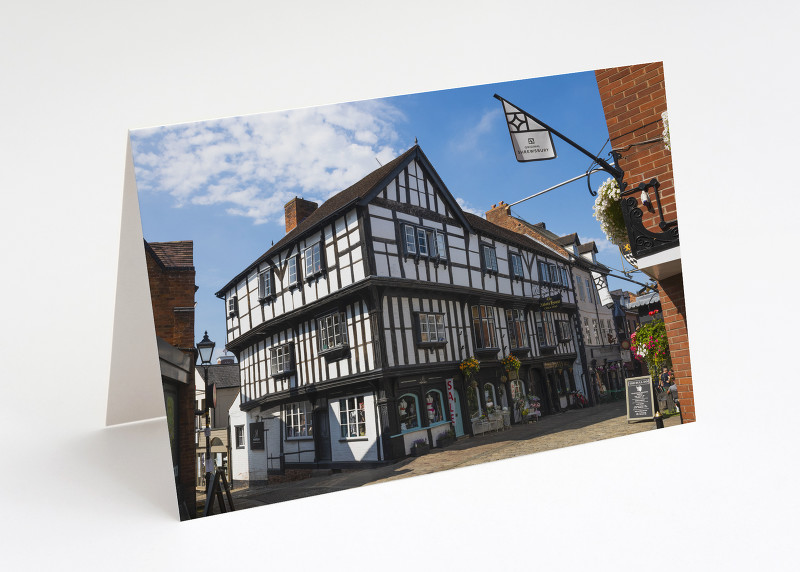 The Abbot's House in Butcher Row, Shrewsbury, Shropshire.
