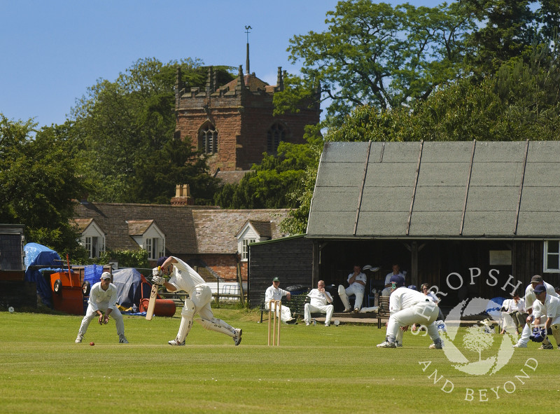 Cound Cricket Club, Shrewsbury, Shropshire, England.