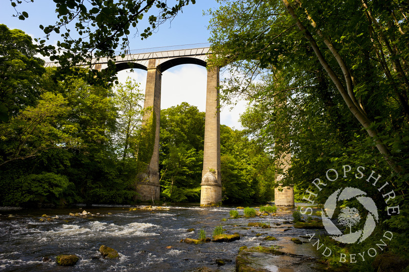 Pontcysyllte Aqueduct, above the River Dee, Wales.
