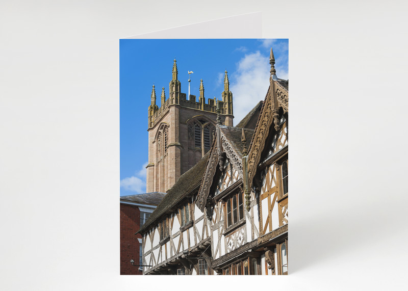 Broad Street and St Laurence's Church, Ludlow, Shropshire.