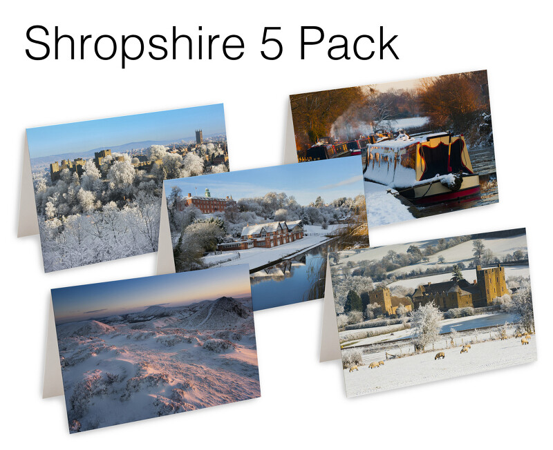 5 Shropshire Christmas Cards