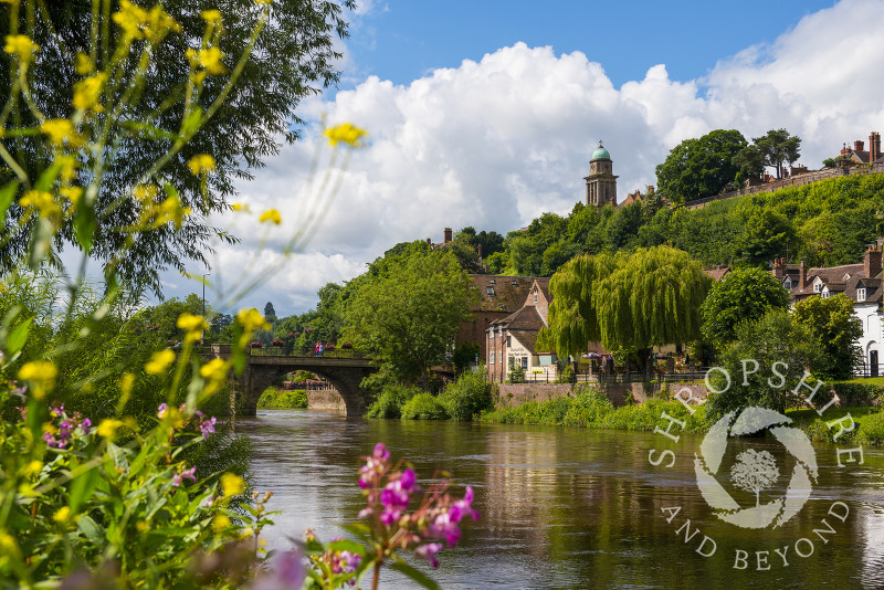 St Mary's Church overlooks the River Severn at Bridgnorth, Shropshire.