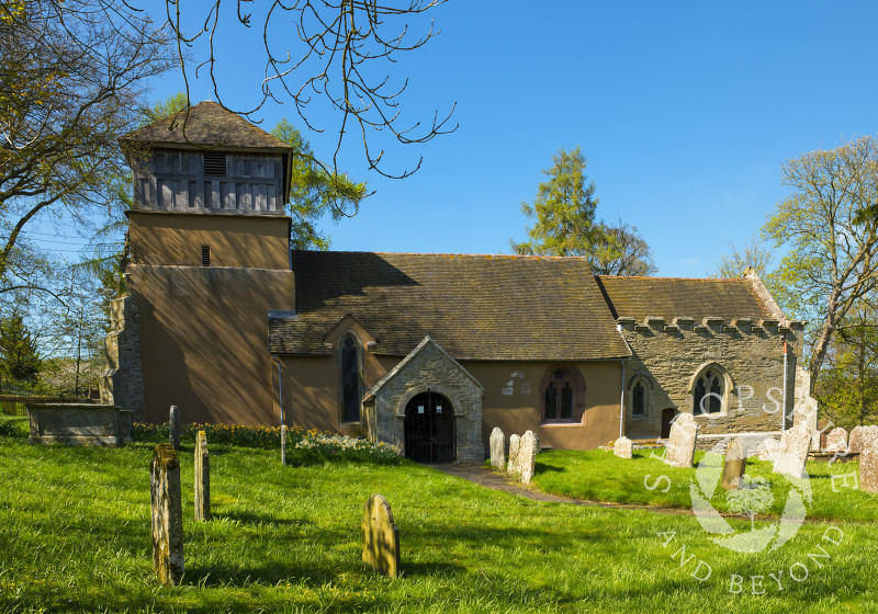 St James' Church at Shipton, near Much Wenlock, Shropshire, England.