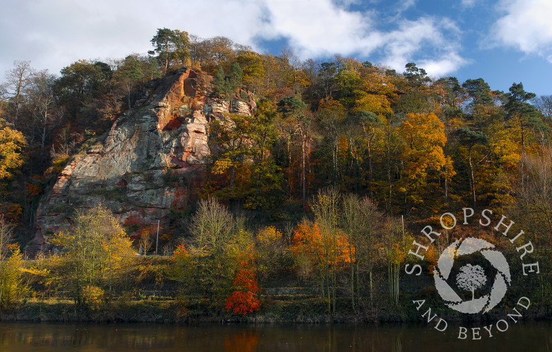 Autumn on High Rock by the River Severn, Bridgnorth, Shropshire