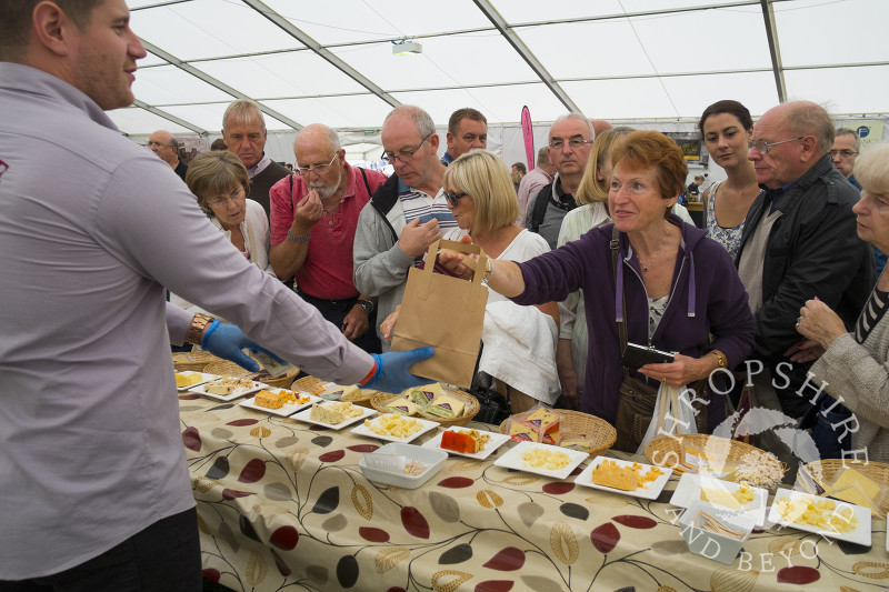 Croome Cuisine stall at the 2014 Ludlow Food Festival, Shropshire, England.