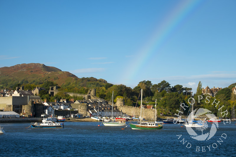 Rainbow over Conwy Bay, Wales.