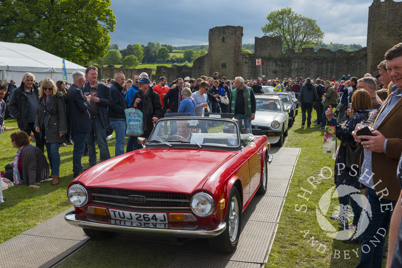 Triumph TR6 at the 2017 Ludlow Spring Festival