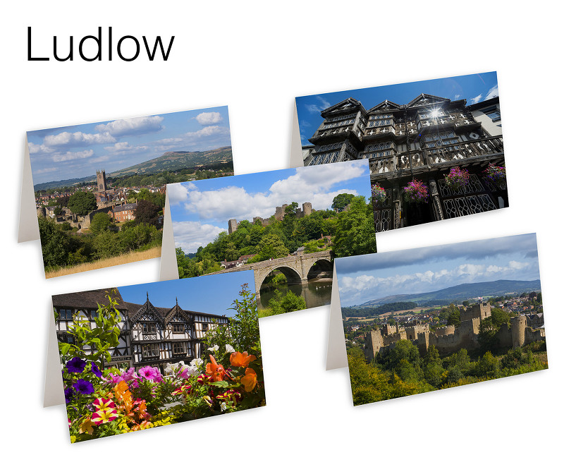 Pack of 5 Ludlow Greetings Cards