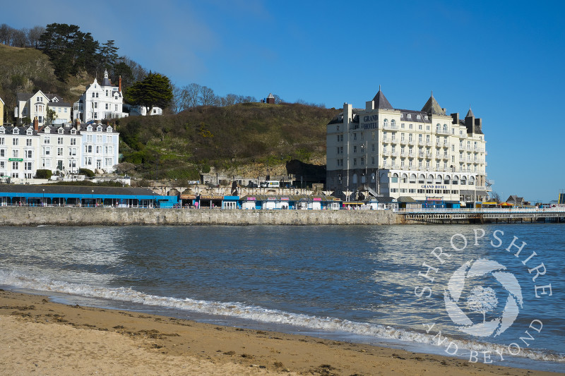 The Grand Hotel on the seafront at Llandudno, North Wales.