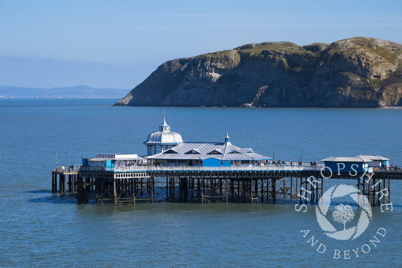Llandudno Pier and the Little Orme, Llandudno, north Wales.