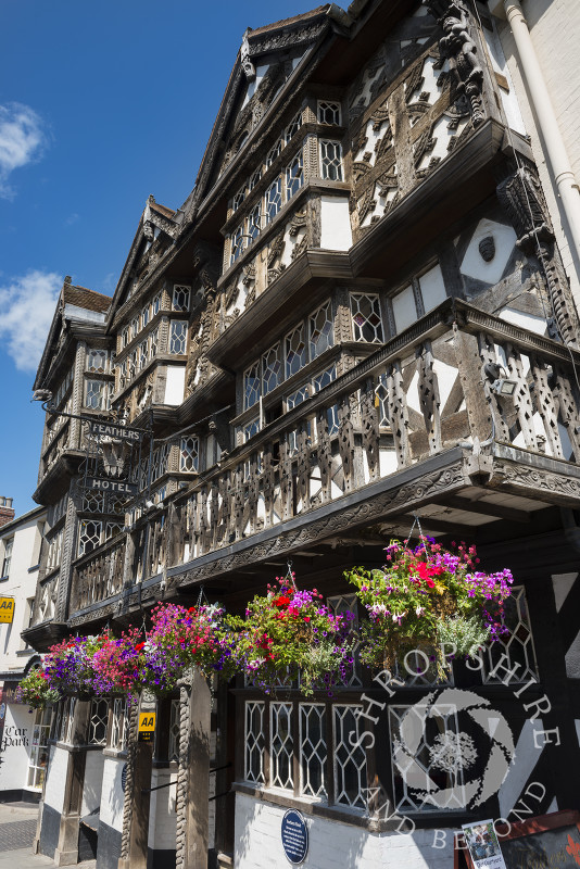The Feathers Hotel at Ludlow, Shropshire, England.