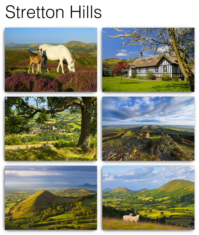 Pack of 6 Stretton Hills Postcards