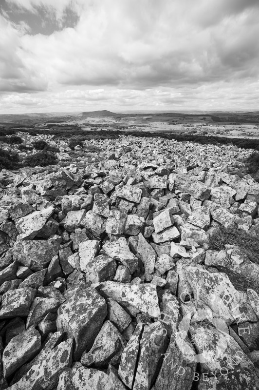 Rocky landscape on the Stiperstones, Shropshire, England.