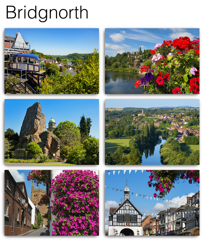 Pack of six Bridgnorth Postcards