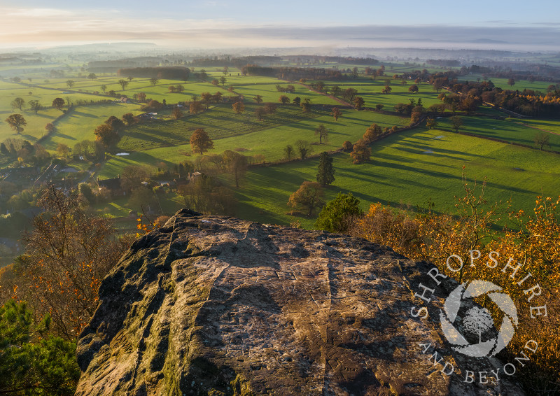 Early morning light over north Shropshire, seen from Grinshill Hill.