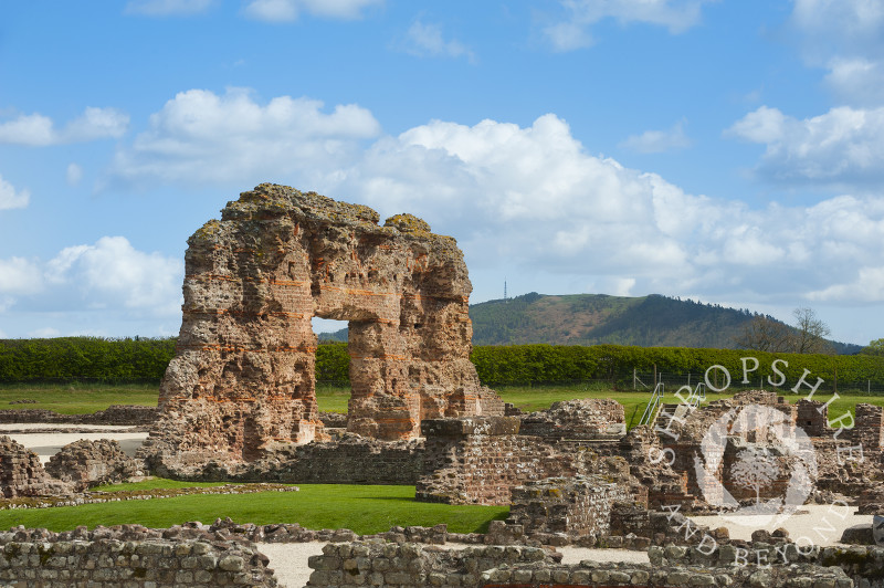 Remains of Viroconium, once the fourth largest Roman city in Roman Britain, at Wroxeter, near Shrewsbury, Shropshire.