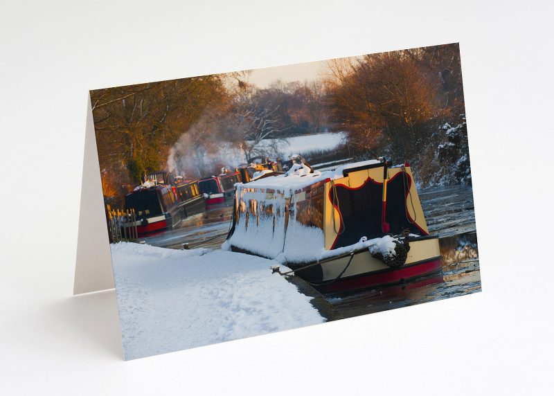 Winter on the Llangollen Canal at Ellesmere, Shropshire.