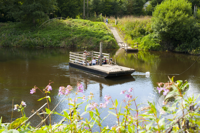 The cable-operated foot ferry at Hampton Loade, near Bridgnorth, Shropshire, England.