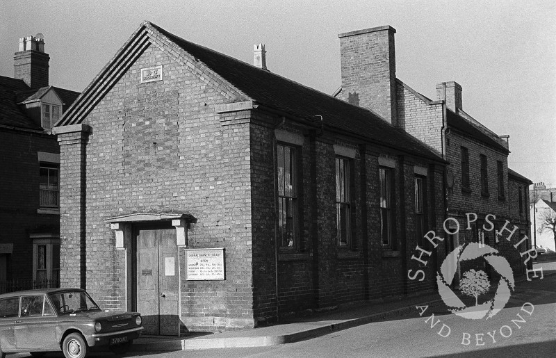 Shifnal Branch Library in Bradford Street, Shifnal, Shropshire, pictured in 1965.