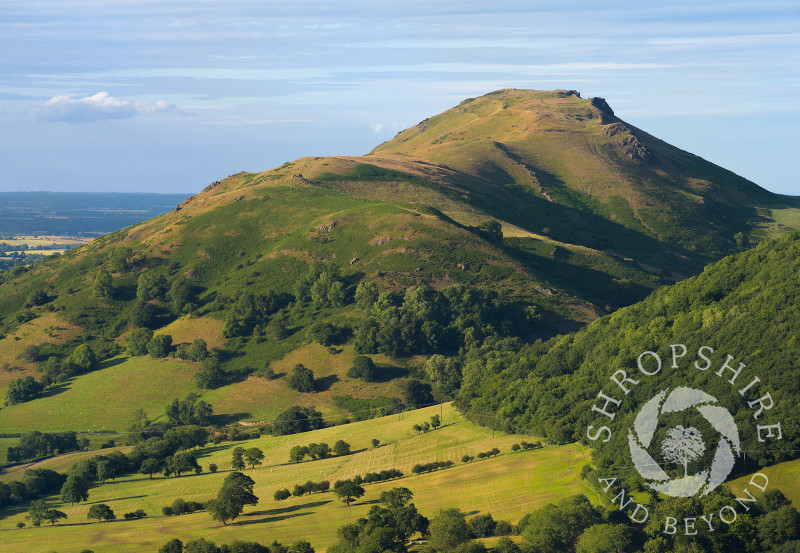 Evening light on Caer Caradoc, seen from Ragleth Hill, Shropshire.