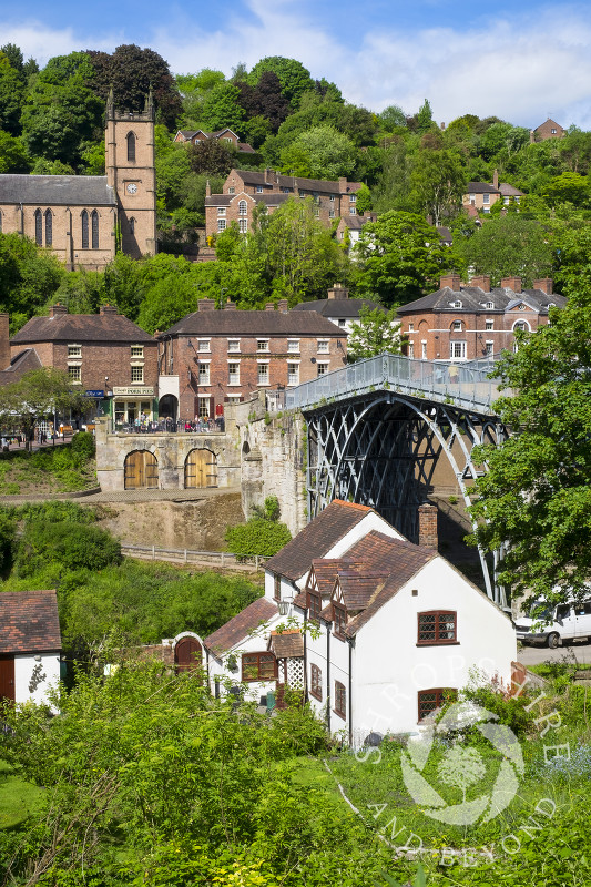 The town of Ironbridge, Shropshire.