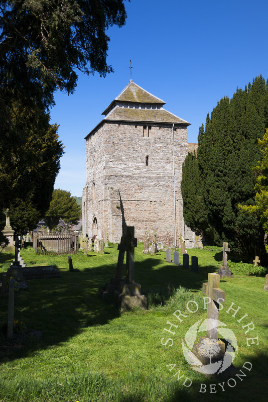 St George's Church in the town of Clun, Shropshire, England.