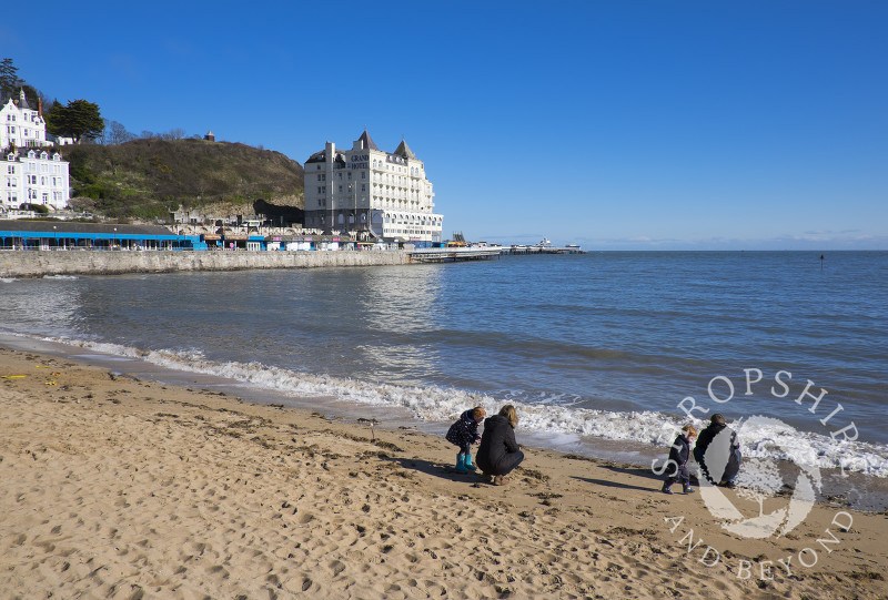 The seafront at Llandudno, North Wales.