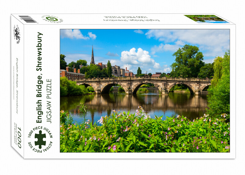 English Bridge, Shrewsbury, 1000-piece jigsaw