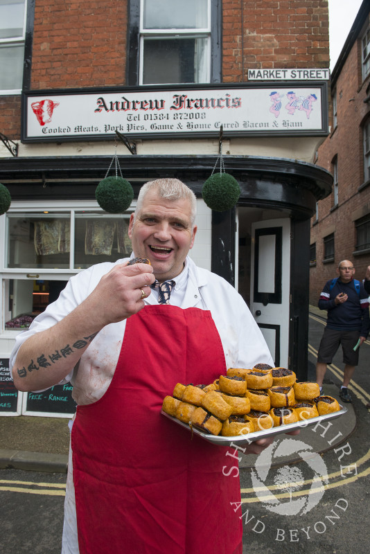 Pie Trail at Andrew Francis Butchers, 2017 Ludlow Spring Festival.