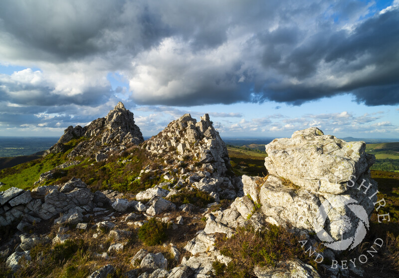 Storm clouds over the Devil's Chair on the Stiperstones, Shropshire.